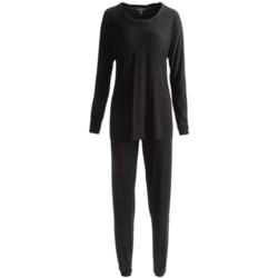 Midnight by Carole Hochman Stretch Modal Pajamas - Long Sleeve (For Women)