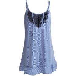 Oscar De La Renta Pink Label Jersey Knit Chemise - Lace Trim, Spaghetti Strap (For Women)