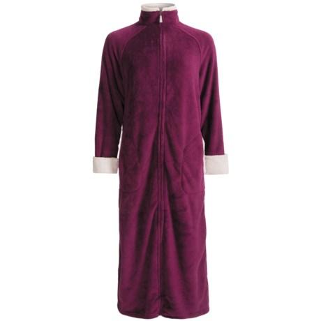 Stan Herman Plush Zip-Front Robe - Long Sleeve (For Women)