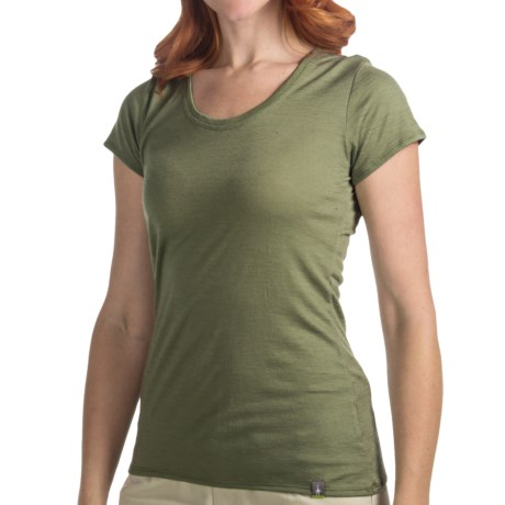 SmartWool U-Neck T-Shirt - Merino Wool, Short Sleeve (For Women)