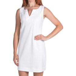 V-Neck Summer Dress - Cotton, Sleeveless (For Women)