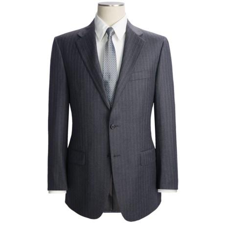 Hickey Freeman Wool Flannel Suit - Beaded Track Stripe (For Men)