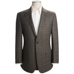 Hickey Freeman Subtle Windowpane Sport Coat with Plaid Overlay - Wool (For Men)