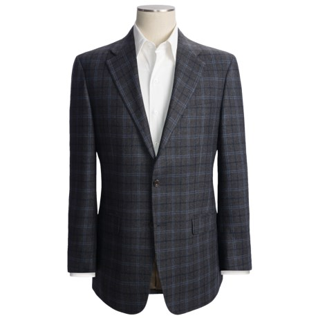 Hickey Freeman Double Windowpane Sport Coat - Wool-Silk-Cashmere (For Men)