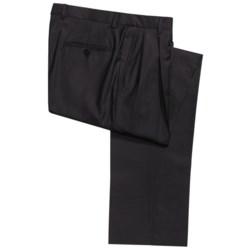 Hickey Freeman Worsted Wool Gabardine Pants - Double-Reverse Pleats (For Men)