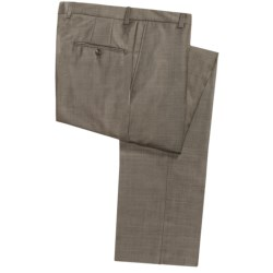 Hickey Freeman Solid Fancy Pants - Flat Front (For Men)