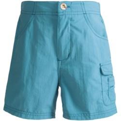 White Sierra River Shorts - UPF 30 (For Girls)