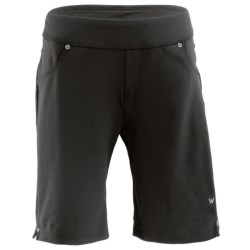 White Sierra Knit Hiking Shorts - Stretch Fabric (For Women)