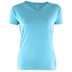White Sierra Taroko V-Neck Shirt - Stretch Rayon-Cotton, Short Sleeve (For Women)