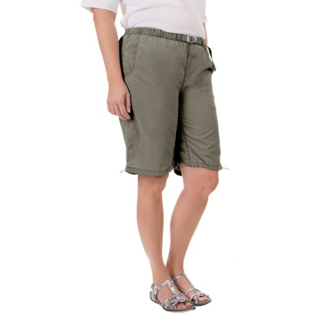 White Sierra Hanalei Bermuda Shorts (For Plus Size Women)