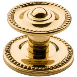 Valsan Brass Cabinet Knob and Backplate - 1-1/2""