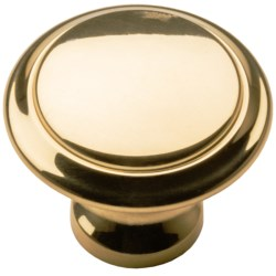 "Valsan Brass Cabinet/Drawer Knob - 1"""