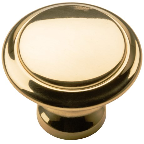 Valsan Brass Cabinet/Drawer Knob - 1""