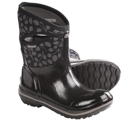 Bogs Plimsoll Leaf Mid Rain Boots - Waterproof (For Women)