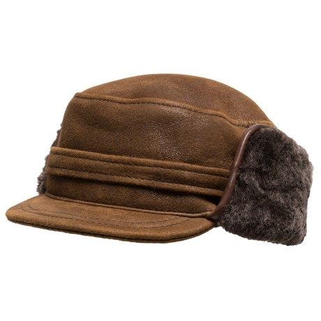 Aston Leather Merino Sheepskin Hat (For Men)