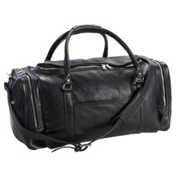 "Aston Leather Half Moon Zip Duffel Bag - 20"""