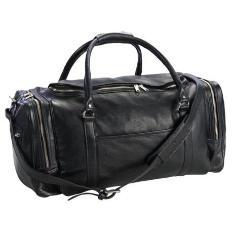 Aston Leather Half Moon Zip Duffel Bag - 20""