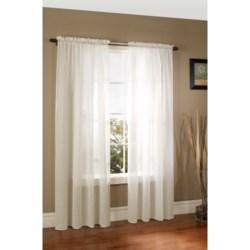 "Thermalogic ThermaSheer Weatherplus Semi-Sheer Curtains - 100x84"", Rod-Pocket, Insulated"