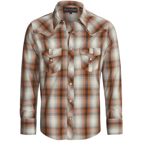 Rock & Roll Cowboy Dobby Plaid Shirt - Snap Front, Long Sleeve (For Men)
