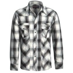 Rock & Roll Cowboy Dobby Plaid Shirt - Raw Edge, Long Sleeve (For Men)