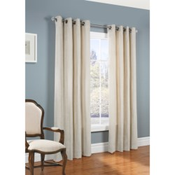"Habitat Velvet Touch Curtains - 104x95"", Grommet-Top"