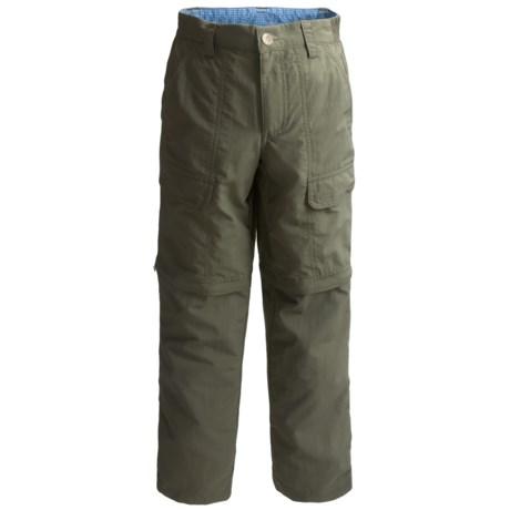 White Sierra Trail Pants - UPF 30, Convertible (For Little & Big Boys)