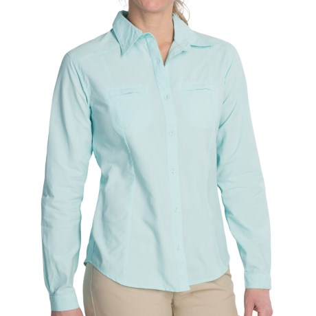 White Sierra Canyon Crest Shirt - UPF 30, Long Roll-Up Sleeve (For Women)