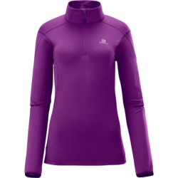 Salomon Discovery Fleece Jacket - Zip Neck (For Women)