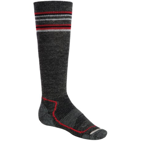 Lorpen Junior Midweight Ski Socks - 2-Pack, Merino Wool, Over-the-Calf (For Kids and Youth)