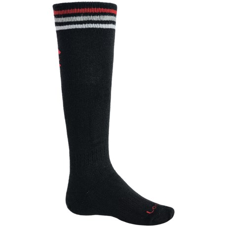 Lorpen Junior Lightweight Ski Socks - 2-Pack, Merino Wool, Over-the-Calf (For Kids and Youth)
