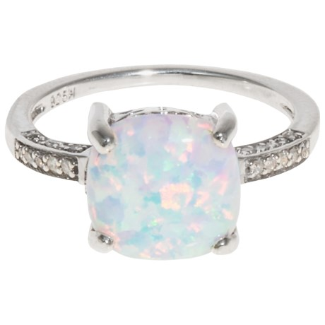 Millennium Creations Created Opal Ring - Sterling Silver