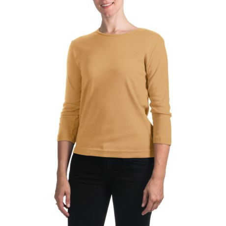 Solid Cotton Shirt - Long Sleeve (For Women)