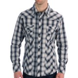 Rock & Roll Cowboy Cotton Plaid Shirt - Accent Stitching, Long Sleeve (For Men)