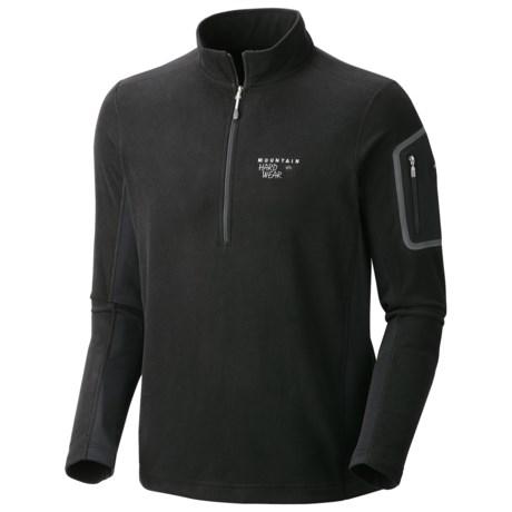 Mountain Hardwear Microstretch Pullover - Zip Turtleneck, Fleece, Long Sleeve (For Men)