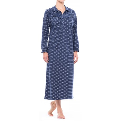 KayAnna Cotton Flannel Nightgown - Long Sleeve (For Women)