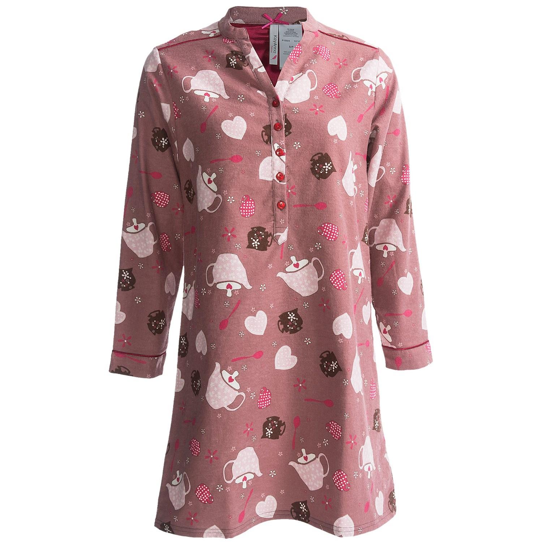 Kayanna printed flannel nightshirt for women 6388v for Womens flannel night shirts