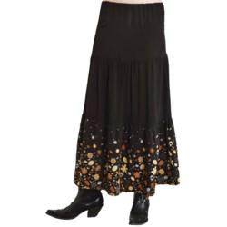 Roper Studio West Tiered Border Print Skirt - Rayon (For Women)