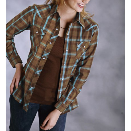 Studio West Plaid Shirt - Snap Front, Long Sleeve (For Women)