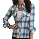 Stetson Ombre Plaid Brushed Twill Shirt - Long Sleeve (For Women)