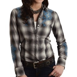 Stetson Ombre Plaid Western Shirt - Embroidered, Long Sleeve (For Women)