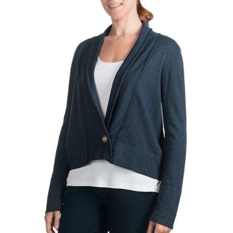 Lilla P Single-Button Cardigan Sweater - Cotton-Modal-Cashmere (For Women)