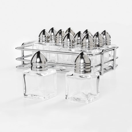 OGGI Mini Glass Salt & Pepper Shaker Set - 12-Piece