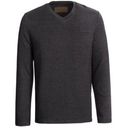 Comstock & Co. Mini Diamond Knit Shirt - Elbow Patches, Long Sleeve (For Men)