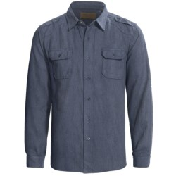 Comstock & Co. Peached Heather Oxford Shirt - Long Sleeve (For Men)