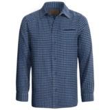 Comstock & Co. Mini Check Shirt - Flannel, Long Sleeve (For Men)