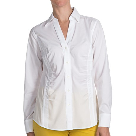 Paperwhite Non-Iron Johnny Collar Shirt - Long Sleeve (For Women)
