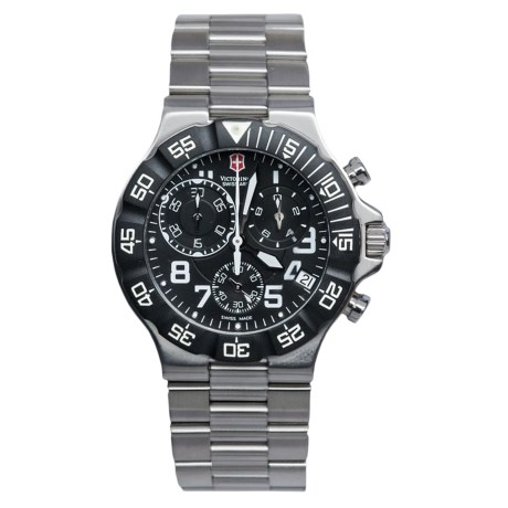 Victorinox Swiss Army Summit XLT Chronograph Watch - Stainless Steel Bracelet (For Men)