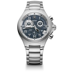 Victorinox Swiss Army Base Camp Chronograph Watch - Stainless Steel Bracelet (For Men)