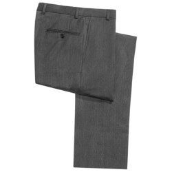 Hickey Freeman Twill Dress Pants - Worsted Wool, Flat Front (For Men)