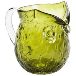 Tozai Owl Creamer Holder - Textured Glass